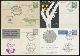 GANZSACHEN 1958/9, 4 Verschiedene Privat-Ganzsachen Heuss, Sonderstempel, Pracht - Deutschland