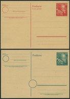 GANZSACHEN PSo 1/2 BRIEF, 1949, Bundestag, Ungebraucht, 2 Prachtkarten, Mi. 56.- - Deutschland