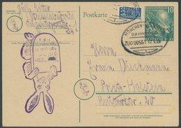 GANZSACHEN PSo 1 BRIEF, 1949, 10 Pf. Bundestag Mit Bahnpoststempel München-Nürnberg, Pracht - Deutschland
