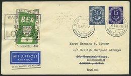 GANZSACHEN PU 5/2 BRIEF, 1952, Privat-Ganzsachenumschlag 30 + 15 Pf. Posthorn, Gebraucht, Pracht - Deutschland