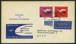DEUTSCHE LUFTHANSA 7 BRIEF, 1.4.1955, München-Köln/Wahn, Brief Feinst - BRD