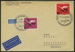 DEUTSCHE LUFTHANSA 12 BRIEF, 1.4.1955, Frankfurt-Düsseldorf, Prachtbrief - BRD