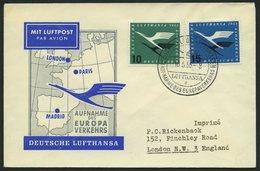 DEUTSCHE LUFTHANSA 24 BRIEF, 16.5.1955, Düsseldorf-London, Prachtbrief - BRD