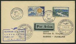 DEUTSCHE LUFTHANSA 33 BRIEF, 17.5.1955, Paris-Hamburg, Prachtbrief - BRD