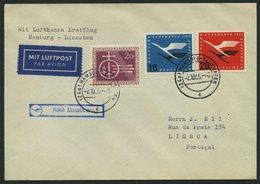 DEUTSCHE LUFTHANSA 44 BRIEF, 2.10.1955, Hamburg-Lissabon, Prachtbrief - BRD
