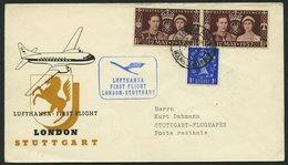 DEUTSCHE LUFTHANSA 55 BRIEF, 22.4.1956, London-Stuttgart, Brief Feinst - BRD