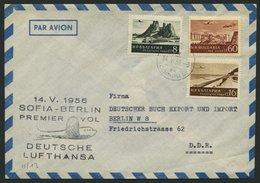 DEUTSCHE LUFTHANSA 14.5.1956, LH-Erstflug SOFIA-BERLIN Mit Bulgarischer Frankatur, Pracht - BRD