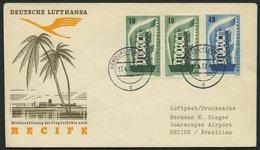 DEUTSCHE LUFTHANSA 146 BRIEF, 15.4.1957, Hamburg-Recife, Prachtbrief - BRD