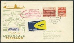 DEUTSCHE LUFTHANSA 178 BRIEF, 7.10.1957, Kopenhagen-Hannover, Prachtbrief - BRD