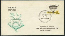 DEUTSCHE LUFTHANSA 953a BRIEF, 26.8.1967, Budapest-München, Prachtbrief - BRD