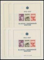 ALBANIEN Bl. 1 **, 1937, Block Unabhängigkeit, 6x, Postfrisch, Pracht, Mi. 180.- - Albanie