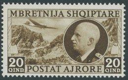 ALBANIEN 312 **, 1939, 20 Q. König Victor Emanuel III, Postfrisch, Pracht, Mi. 120.- - Albanien