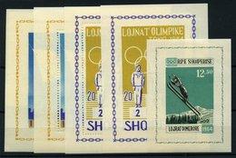 ALBANIEN Bl. **, 1963, 8 Verschiedene Blocks Olympische Spiele: Bl. 19A/B, Bl. 20/1, Bl. 22/3, Bl. 26A/B, Pracht, Mi. 21 - Albanie