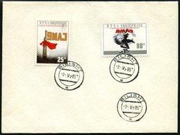 ALBANIEN 2264/5 BRIEF, 1985, 40. Jahrestag Des Sieges Auf Umschlag Mit Ersttagsstempel, Pracht, R!, Auflage Nur 1370 Sät - Albanie