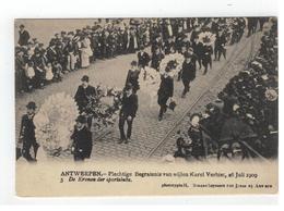 ANTWERPEN - Plechtige Begrafenis V Wijlen Karel Verbist 1909 3. De Kronen Der Sportclubs - Antwerpen