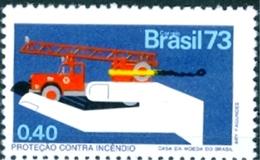 BRAZIL #1305     FIRE PREVENTION  -  FIRE TRUCK  - 1973 - Brazil