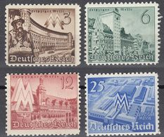 ALLEMAGNE -  DEUTSCHLAND - GERMANIA - 1940 - Serie Completa Nuova MNH Yvert 663/666; 4 Valori. - Germania