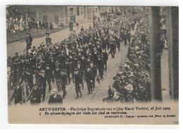 ANTWERPEN - Plechtige Begrafenis V Wijlen Karel Verbist 1909 1. De Afgevaardigden  Der Clubs Der Stad En Omstreken - Antwerpen