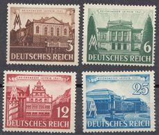 ALLEMAGNE -  DEUTSCHLAND - GERMANIA - 1941 - Serie Completa Nuova MNH Yvert 688/691; 4 Valori. - Germania