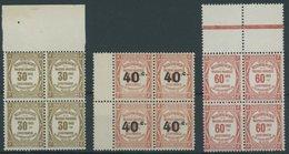 1908-19, 30 C., 40 C. Auf 50 C. Und 20 C. In Postfrischen Randviererblocks, Pracht -> Automatically Generated Translatio - Algerien (1924-1962)