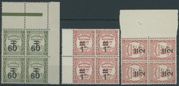 1926, 60 C. Auf 1 Fr. - 2 Fr. Auf 60 C. In Randviererblocks, Postfrisch, Pracht, Mi. 236.- -> Automatically Generated Tr - Algerien (1924-1962)