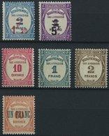PORTOMARKEN P 62-67 *, 1929/31, Postauftragsmarken, Falzreste, 6 Prachtwerte - Algerien (1924-1962)