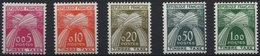 PORTOMARKEN P 93-97 **, 1960, Weizengarben, Prachtsatz, Mi. 70.- - Algerien (1924-1962)