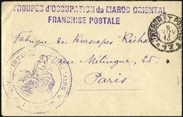 FRANZ.POST IN MAROKKO 1913, Feldpostbrief Mit Feldpost-Stempel Der Französischen Okkupationstruppen In Marokko, Pracht - Marokko (1891-1956)