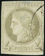 F.KOL ALLGEMEINE AUSGABEN 16 O, 1872, 4 C. Grau, Feinst (helle Stellen), Mi. 600.- - Frankreich (alte Kolonien Und Herrschaften)