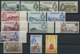 GIBRALTAR 134-47 **, 1953, Ansichten, Mi.Nr. 147 Falzrest, Prachtsatz - Gibraltar