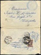 GRIECHENLAND 200 BRIEF, 1922, 50 L. Graulia Auf Feldpostbrief über Das Feldpostamt 932, Mit Blauem K3 Militär-Dienststem - Finnland