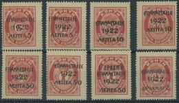 GRIECHENLAND 280-87 **, 1923, Portomarken Von Kreta Ohne Aufdruck, Postfrischer Prachtsatz, Mi. 105.- - Finnland