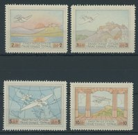 GRIECHENLAND 300-03 **, 1926, Halbamtliche Flugpostmarken, Postfrischer Prachtsatz, Mi. 130.- - Finnland