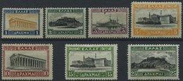 GRIECHENLAND 311-17*, (*), 1927, 1 - 25 Dr. Freimarken, 7 Werte Feinst/Pracht - Finnland