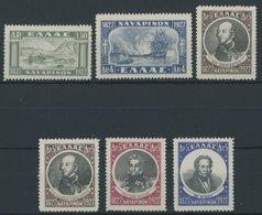 GRIECHENLAND 321-26 **, 1927/8, Seeschlacht Von Navarino, Postfrischer Prachtsatz, Mi. 260.- - Finnland