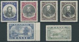 """1927/8, Seeschlacht Von Navarino, Falzrest, Prachtsatz -> Automatically Generated Translation: 1927 / 8, """"Lake Battle Fr - Finnland"""
