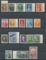 GRIECHENLAND 327-44 **, 1930, 100 Jahre Unabhängigkeit, Postfrischer Prachtsatz, Mi. 300.- - Finnland