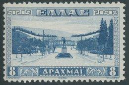 GRIECHENLAND 372 **, 1934, 8 Dr. Stadion In Athen, Postfrisch, Pracht, Mi. 220.- - Finnland