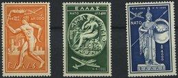 GRIECHENLAND 615-17 **, 1954, NATO, Prachtsatz, Mi. 120.- - Finnland