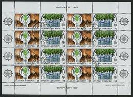 GRIECHENLAND Bl. 2-5,KB O, 1982-86, 4 Blocks Und 3 Kleinbogen Mit Ersttagsstempeln, Pracht, Mi. 105.20 - Finnland