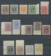 GRIECHENLAND P 25-38 **, Portomarken: 1902, Ziffer, Postfrischer Prachtsatz - Finnland