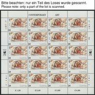 GUERNSEY KB **, 1976-94, Europa, Bis Auf 1977 Alle 18 Kleinbogensätze Komplett, U.a. Mit Mi.Nr. 608-11, Pracht, Mi. 756. - Guernsey