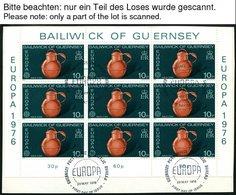 GUERNSEY KB O, 1976-90, Europa, 14 Kleinbogensätze (ohne 1982) Mit Ersttagsstempeln, Pracht, Mi. 353.- - Guernsey