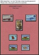 GUERNSEY **, 1970-81, Partie Verschiedener Kompletter Ausgaben, Pracht, Mi. 150.- - Guernsey