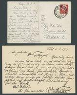 1938, Land-Wasser-Schwimmauto Von Hanns Trippel, Eigenhändige Neapel-Capri-Expeditonskarte, (senkrecht Gefaltet), Dazu K - 1861-78 Victor Emmanuel II.