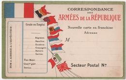 MILITARIA. 14-18. CORRESPONDANCE Des ARMEES De La REPUBLIQUE. CARTE VIERGE. - Guerre 1914-18