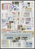 KROATIEN **, Postfrische Partie Verschiedener Ausgaben Von 1991-2003, Mit Einigen Kompletten Jahrgängen, Dazu Fast Kompl - Kroatien