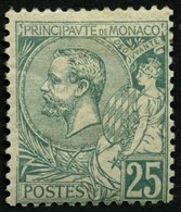 MONACO 16 *, 1891, 25 C. Grün, Falzreste, Normale Zähnung, Pracht, Mi. 300.- - Monaco