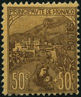 MONACO 31 *, 1919, 50 C. Braun Auf Bräunlich, Falzrest, Pracht, Mi. 250.- - Monaco