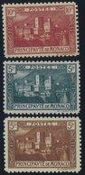 MONACO 62-64 **, 1922/4, 5 - 10 Fr. Einheimische Motive, 3 Postfrische Prachtwerte, Mi. 102.- - Monaco